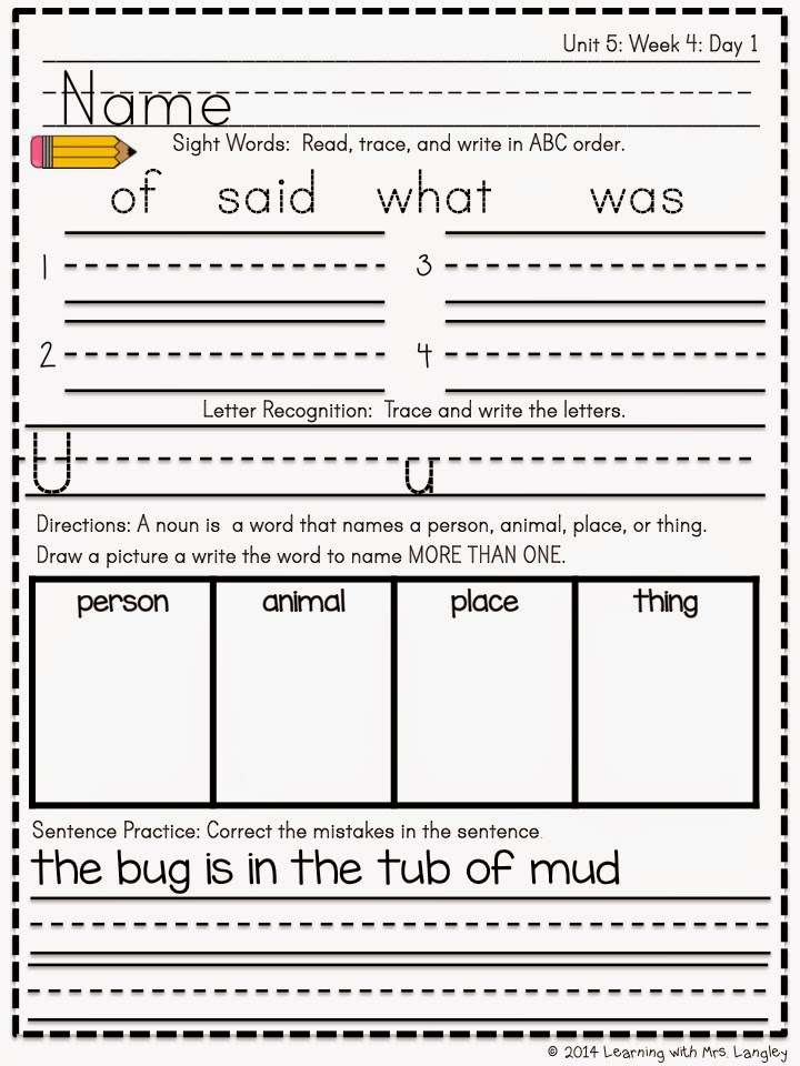 https://www.teacherspayteachers.com/Product/Kindergarten-Morning-Word-Work-Unit-5-1613692