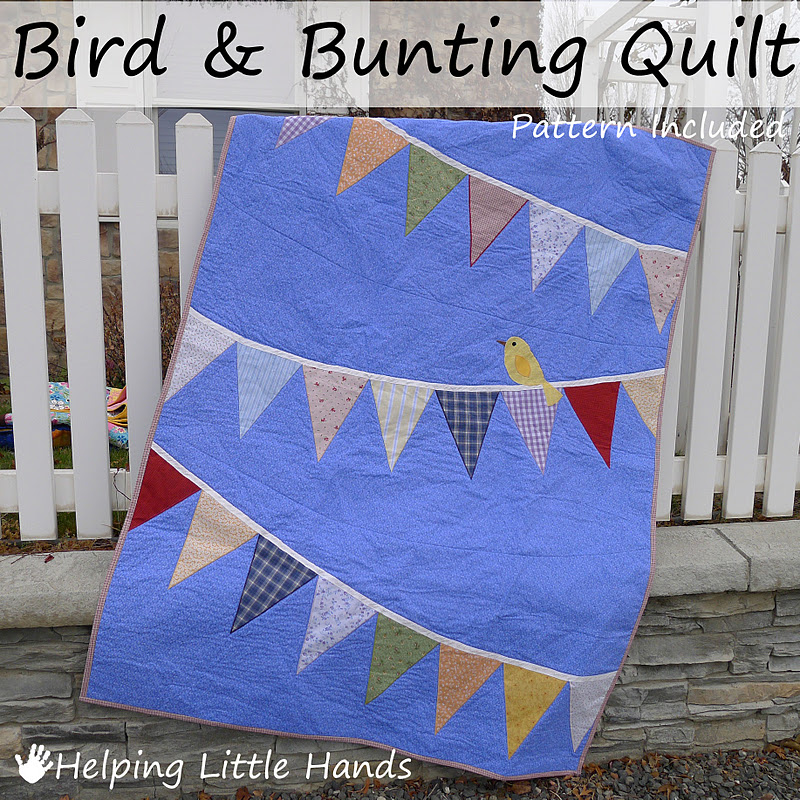 Pieces by Polly: Bird and Bunting Quilt - With Pattern & Tips : quilted baby bunting - Adamdwight.com