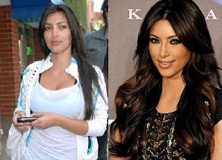 Kim Kardashian with no make-up