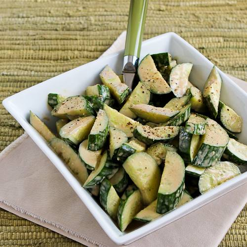 Cucumber Salad with Balsamic Dressing.
