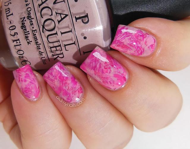 brushstroke manicure nail art