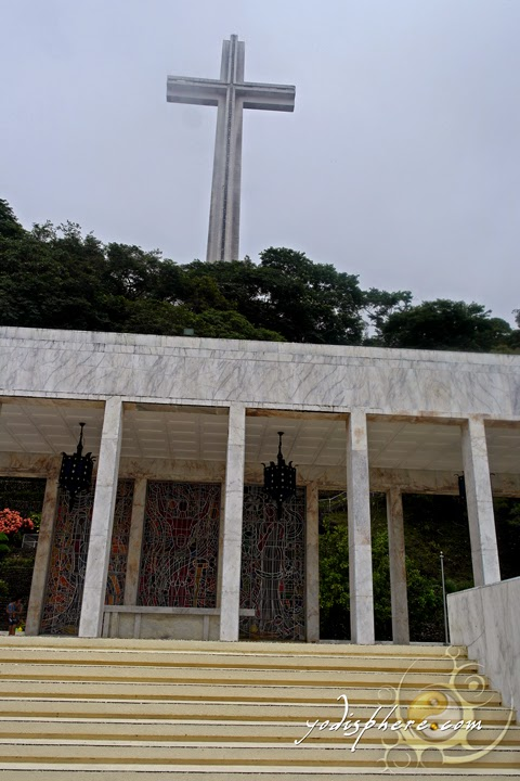 The Colonade and the Memorial Cross of the Shrine of Valor in Bataan