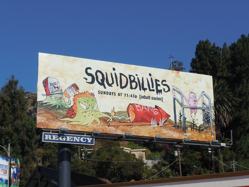 Squidbillies cartoon billboard