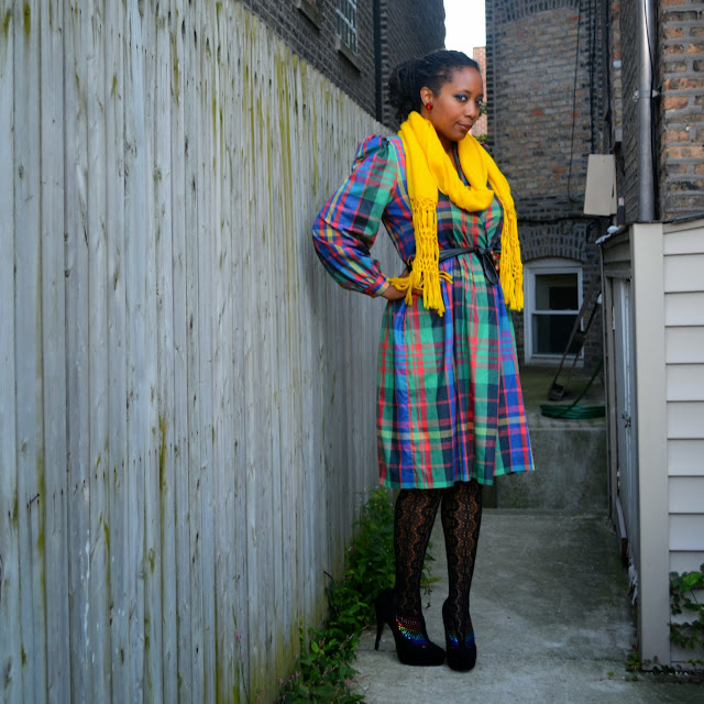 thrift and style a plaid dress