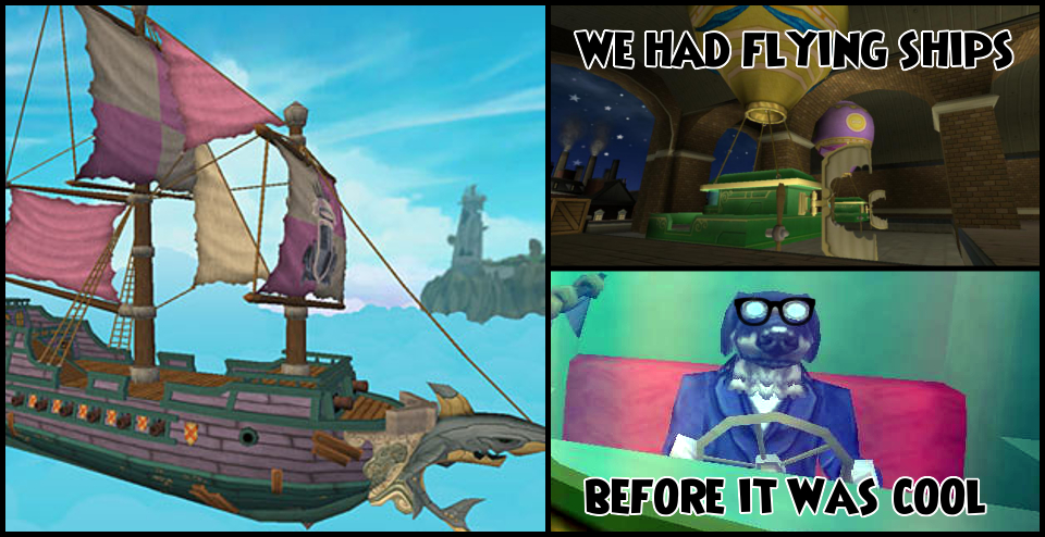 Wizard101, Pirate101 Flying Ships