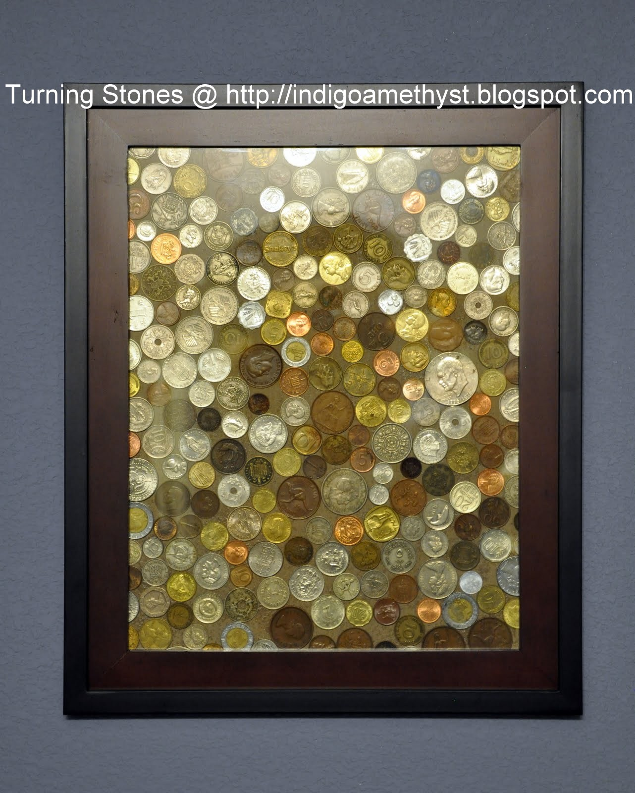 Turning stones blog coin art for How to display picture frames on a table
