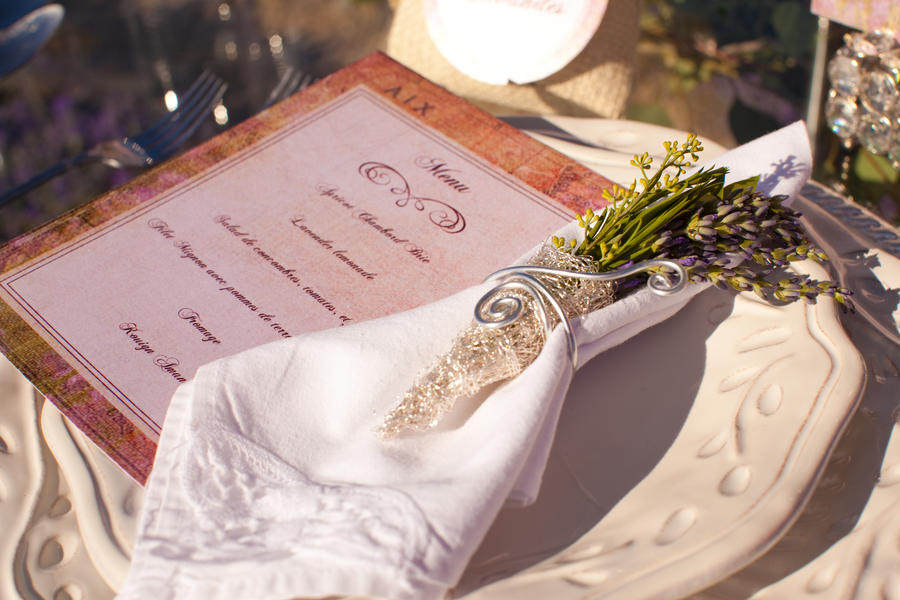 wedding menu, French wedding menu