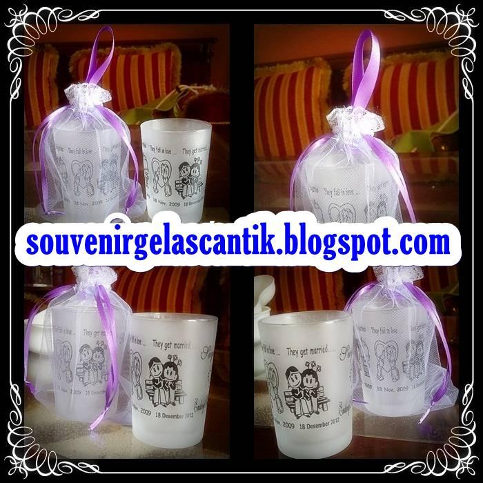 pernikahan ini berikut gambar pesanan souvenir pernikahan gelas cantik ...