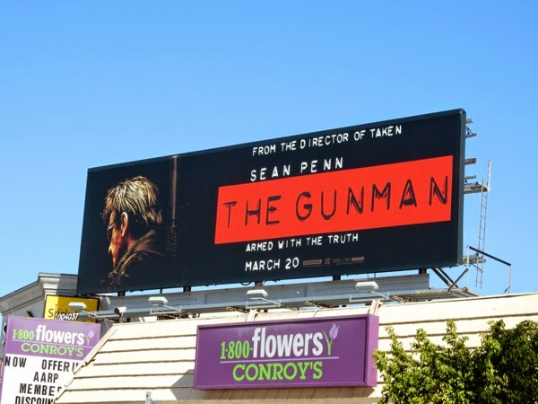 Sean Penn Gunman movie billboard