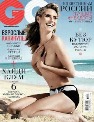 Heidi Klum Revista GQ Rusia Julio 2011