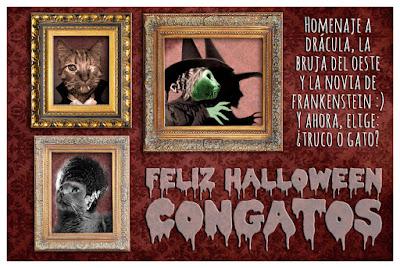 Halloween Drácula Frankenstein Bruja Gatos