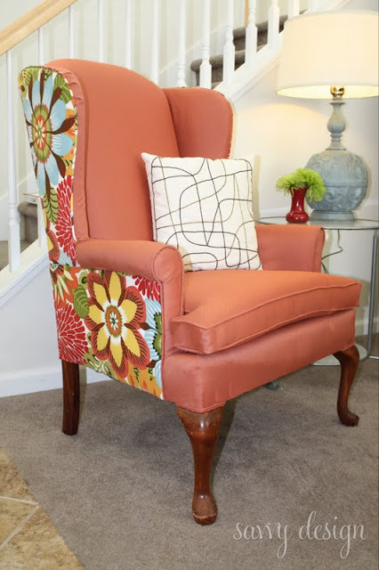 easy way to reupholster a wingback chair 1