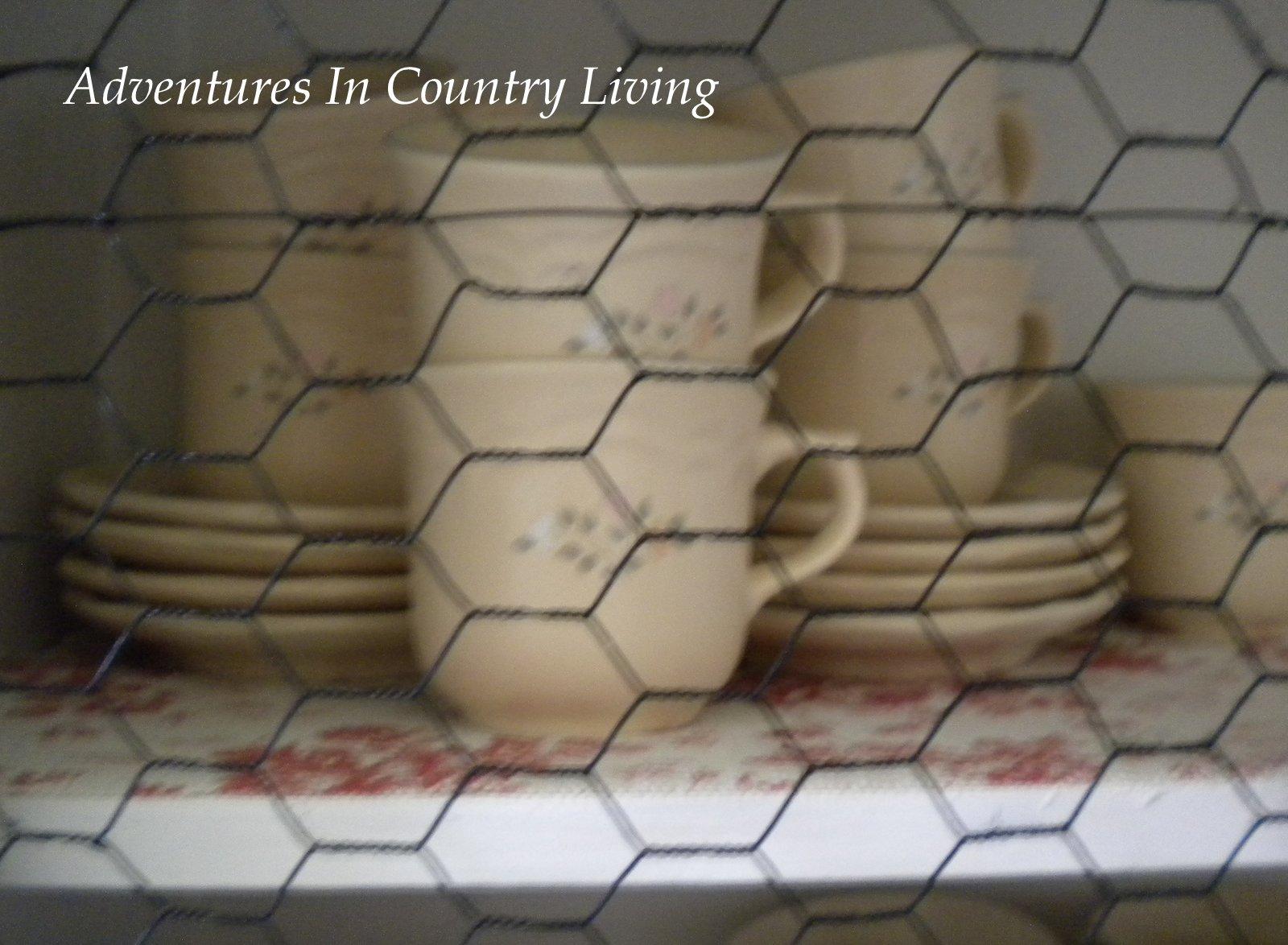 Kitchen Cabiwith Chicken Wire