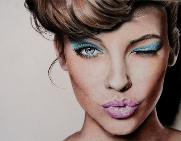 Barbara Color Pencil Drawing By Valentina Zou