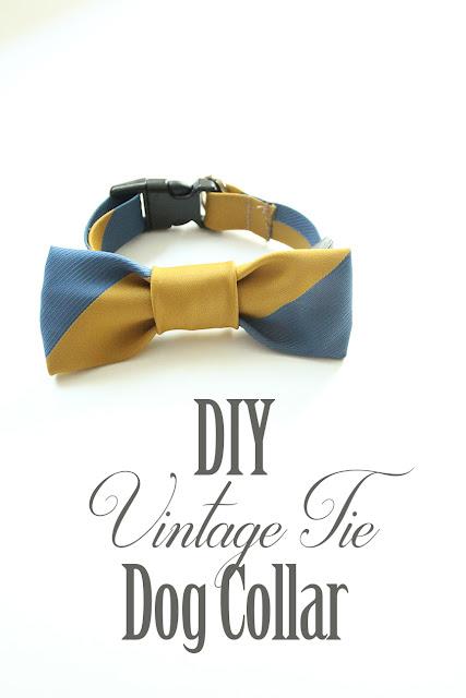 DIY Vintage Bow Tie Dog Collar