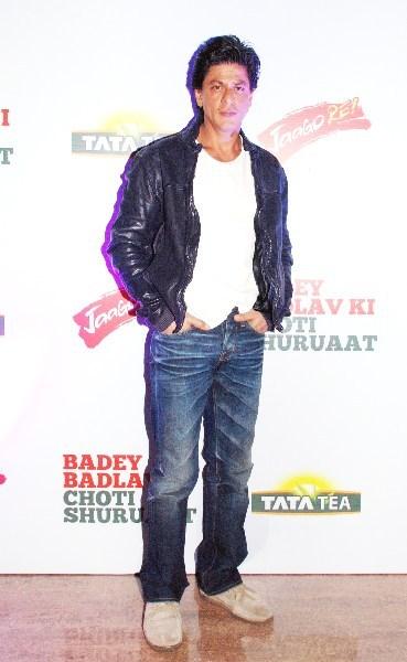 Shahrukh khan at Tata Tea's 'Jaago Re' campaign press conference