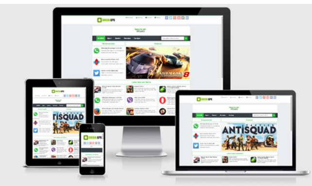 Green APK Responsive Blogger Template