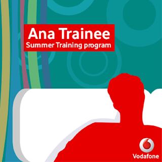 التدريب الصيفي من فودافون Ana Trainee Vodafone summer training