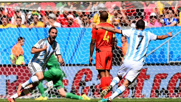 Higuain Persembahkan Tiket Semifinal dalam Laga Argentina vs Belgia 1-0