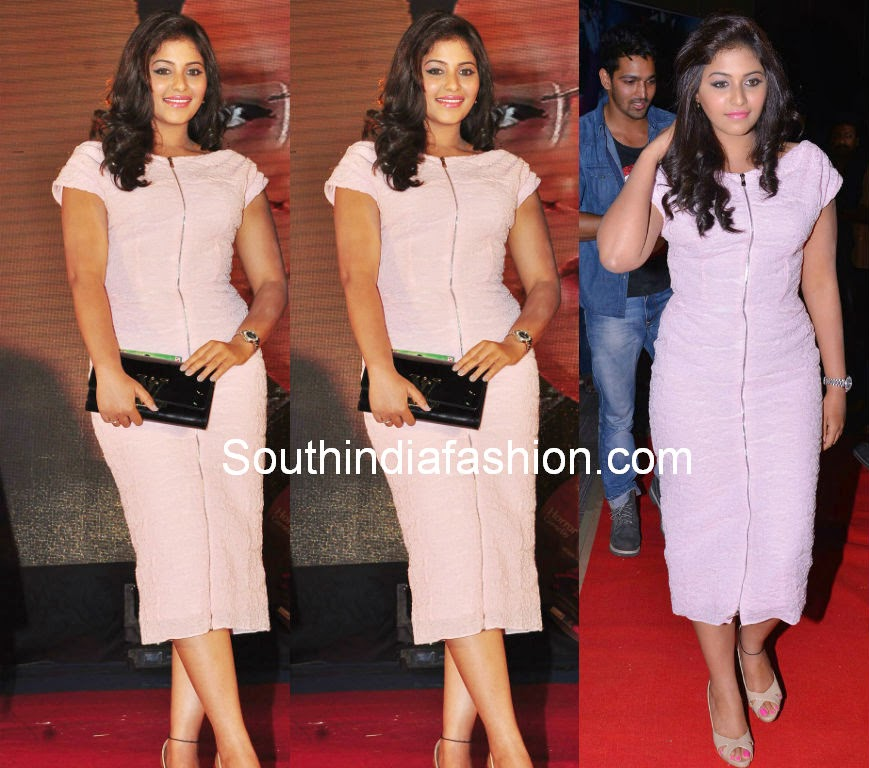 anjali pink dress geethanjali audio launch