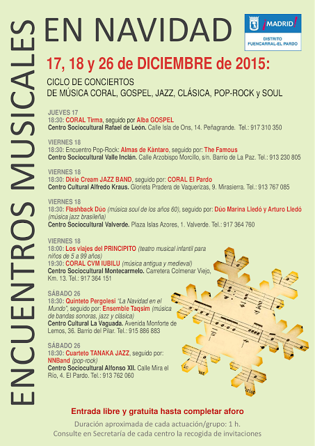 Diciembre Música en Fuencarral