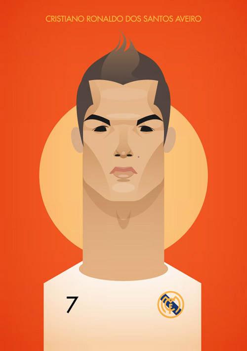Futebolistas - posters minimalistas - Stanley Chow