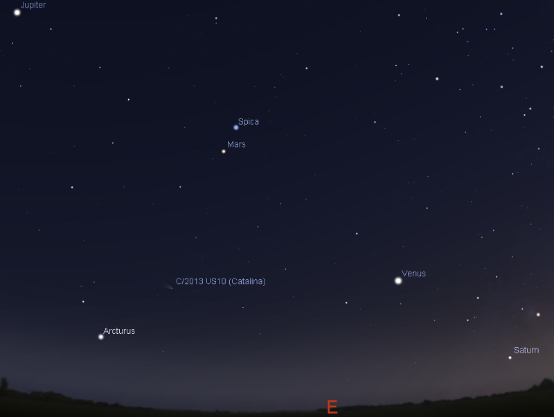 Astroblog: Christmas Moon and Mars (December 25, 2015), New Years Jupiter and Moon (1 January, 2016)