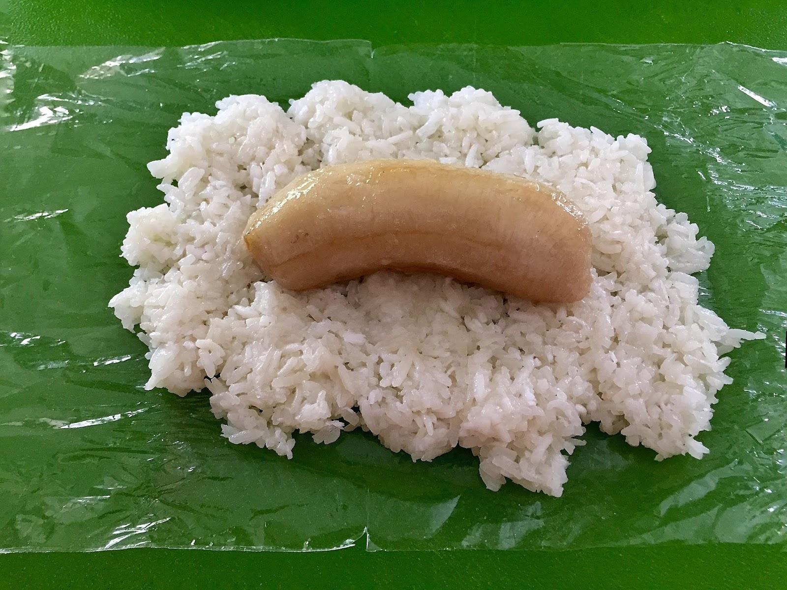 how to make sticky banana rice