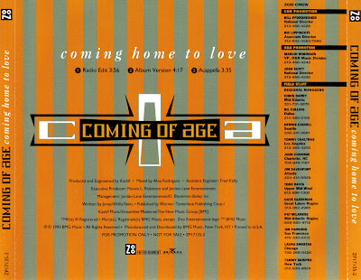 Coming Of Age - Coming Home To Love-Promo-CDS-1993