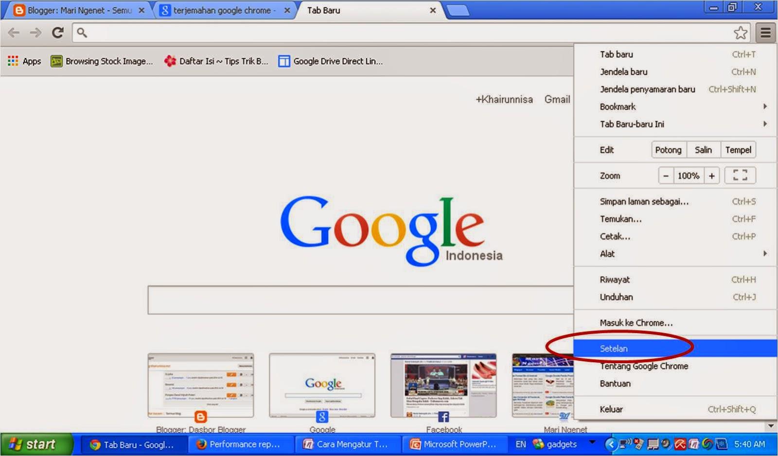 Cara Mengatur Terjemahan Otomatis Google Chrome