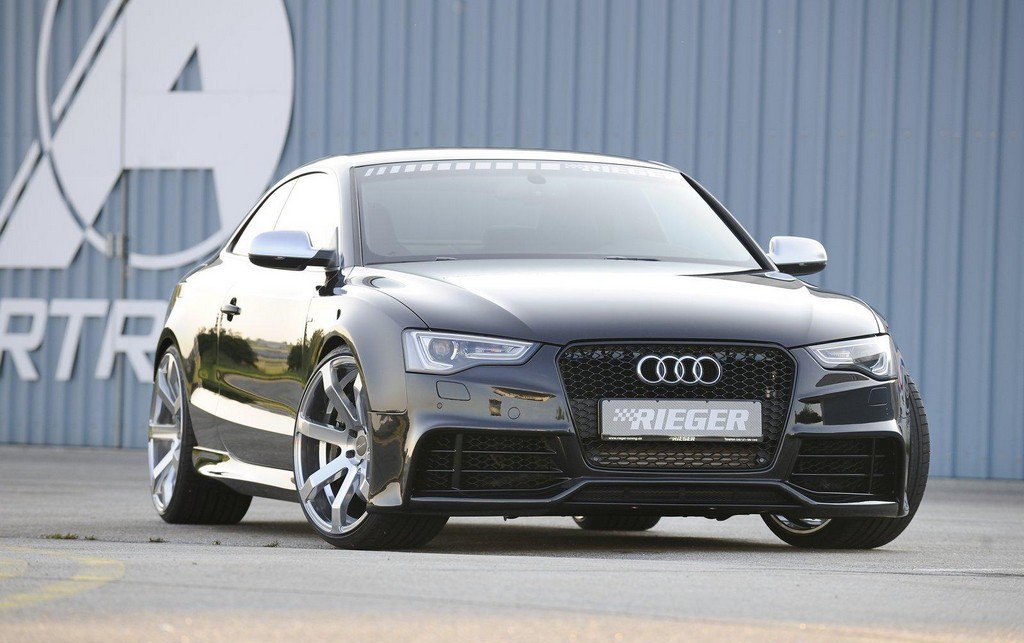 car news rieger rs5 styled body kit for audi a5 facelift. Black Bedroom Furniture Sets. Home Design Ideas