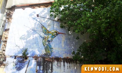 ipoh wall art mural hummingbird