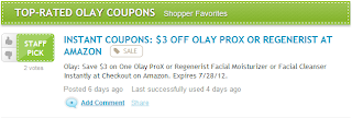 $3 OFF OLAY PROX OR REGENERIST AT AMAZON