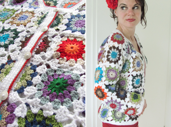 Free Crochet Granny Square Vest Patterns : Granny square VEST... eindelijk af! - Handwerkjuffie