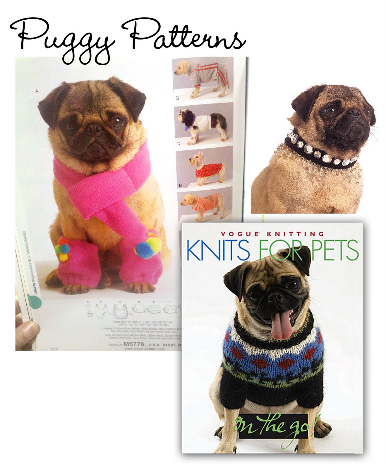 Knitted Pug Pattern : Graphic Sugar: {Pugs in Design} Knit Two, Pug One