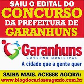 CLIQUE E SE INSCREVA NO CONCURSO DA PREFEITURA DE GARANHUNS.
