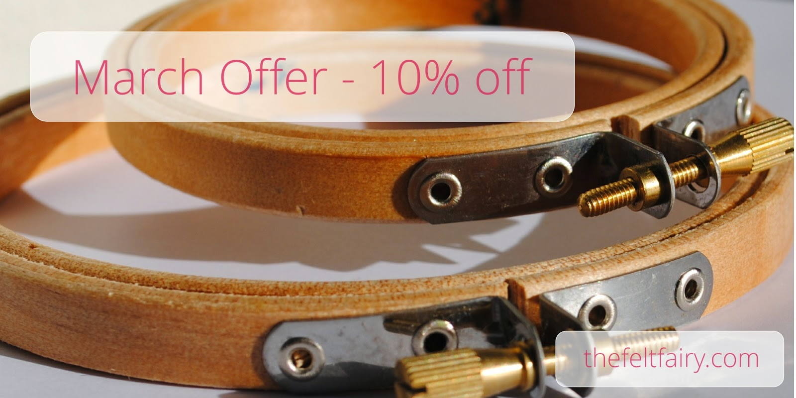 Special Offer - Wooden Embroidery Hoops