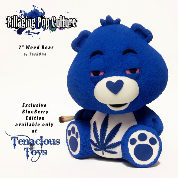 "Tenacious Toys Exclusive ""Blueberry"" Munchy Time Care Bear 7"" Resin Figure by Task One"