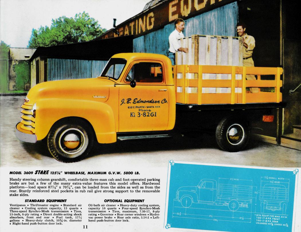 1952 chevrolet trucks brochure medium duty