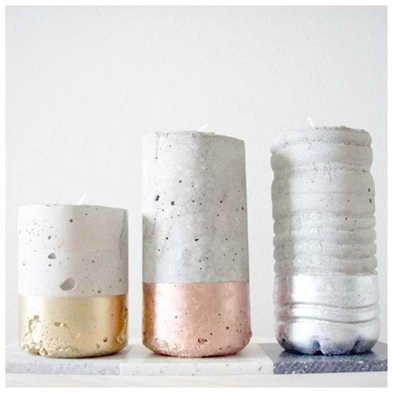 chandelier DIY ciment