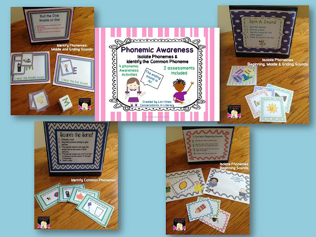 Isolate Phonemes and Identify Common Phonemes Activities and Assessments