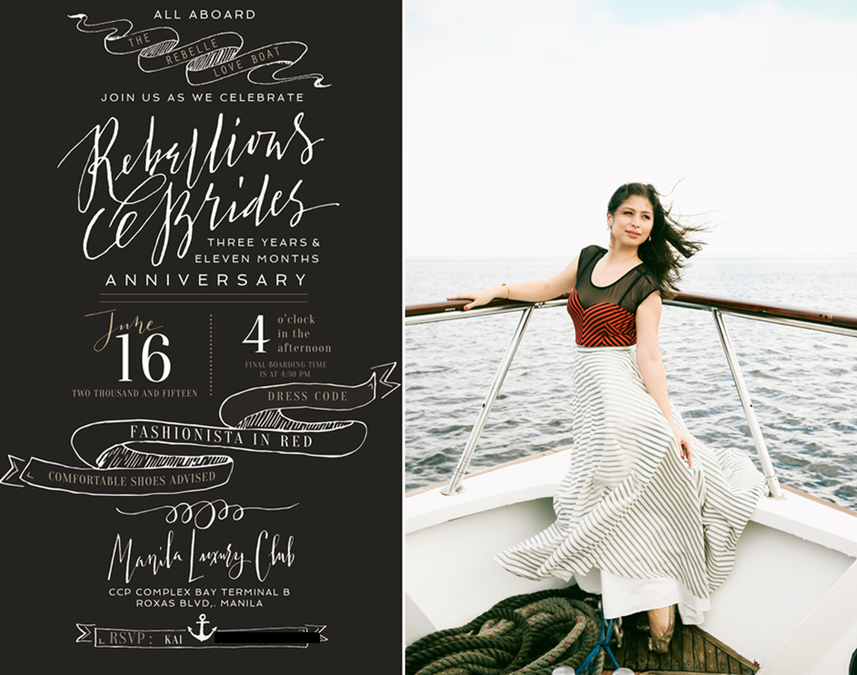 The Rebellious Yacht Party The Rebellious Brides – Yacht Party Invitations