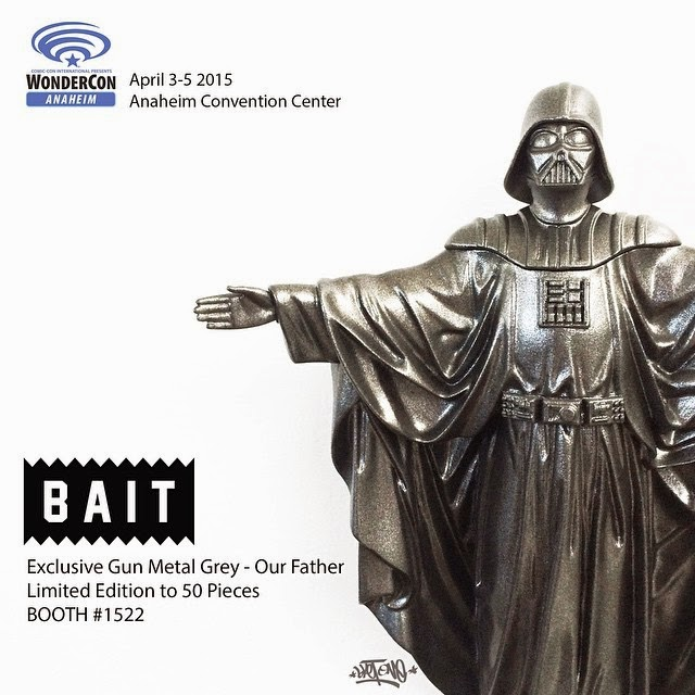 "WonderCon 2015 Exclusive Gun Metal Grey Edition ""Our Father"" Darth Vader Star Wars Mini Resin Statue by Sket One"