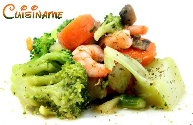 verduras, gambas, verduras salteadas, verduras con gambas, recetas sanas, recetas light, recetas de cocina, recetas de verduras, curiosidades, humor, chistes