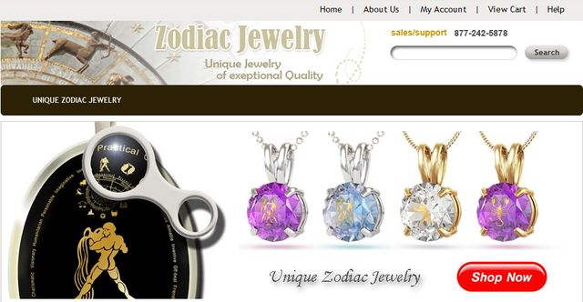 UniqueZodiacJewelry.com - Unique Astrology Jewelry