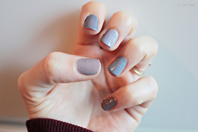 5 shades of grey - - nails, nagellack, review, grau, essie, catrice, trend it up, caviar gauche