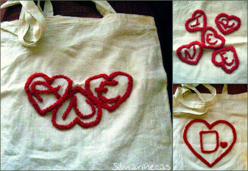 bolsas de loneta bordadas con aguja mágica