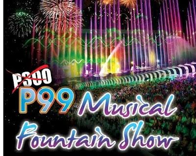 Php 99 Musical Fountain Show at Manila Ocean Park