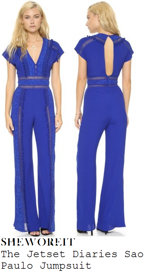 billie-faiers-blue-cap-sleeve-v-neck-pom-pom-jumpsuit-dublin