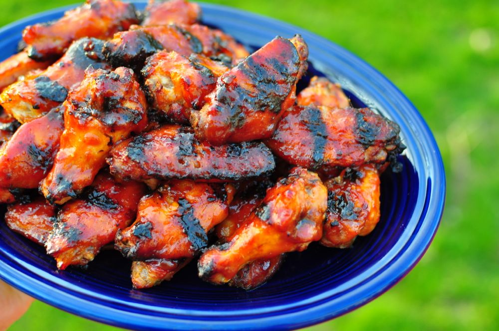 Grilled Miso BBQ Chicken Wings - Dad Cooks Dinner
